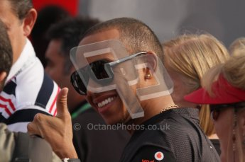 © Octane Photographic Ltd. 2011. Formula 1 World Championship – Italy – Monza – 11th September 2011. Race Day in the Paddock. Lewis Hamilton in the paddock giving the thumbs up. Digital Ref : 0193LW7D6725