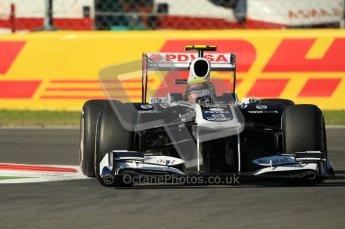 © Octane Photographic Ltd. 2011. Formula 1 World Championship – Italy – Monza – 9th September 2011 –  Pastor Maldonado - Williams FW 33, Free practice 1 – Digital Ref :  0173CB1D1740