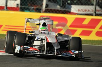 © Octane Photographic Ltd. 2011. Formula 1 World Championship – Italy – Monza – 9th September 2011 –Sergio Perez, Sauber C30 -  Free practice 1 – Digital Ref :  0173CB1D1797
