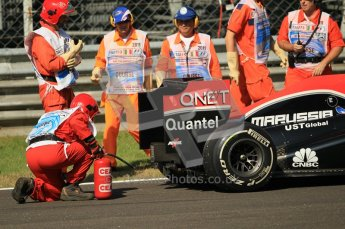 © Octane Photographic Ltd. 2011. Formula 1 World Championship – Italy – Monza – 9th September 2011 – Jerome d'Ambrosio - Virgin Marussia Racing VMR02, Free practice 1 – Digital Ref : 0173CB1D2092