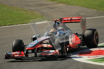© Octane Photographic Ltd. 2011. Formula 1 World Championship – Italy – Monza – 9th September 2011 – Lewis Hamilton, Vodafone McLaren Mercedes MP4/26 -  Free practice 1 – Digital Ref :  0173CB1D2181