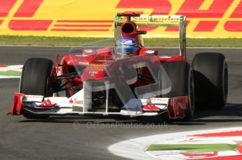 © Octane Photographic Ltd. 2011. Formula 1 World Championship – Italy – Monza – 9th September 2011 – Fernando Alonso - Ferrari F150, Free practice 1 – Digital Ref : 0173CB7D5789