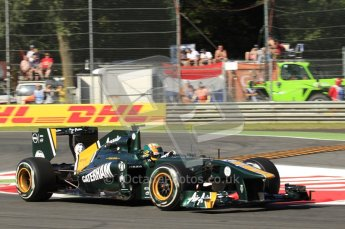 © Octane Photographic Ltd. 2011. Formula 1 World Championship – Italy – Monza – 9th September 2011 – Karun Chandhock, Team Lotus TL128, Free practice 1 – Digital Ref :  0173CB7D5822