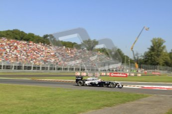 © Octane Photographic Ltd. 2011. Formula 1 World Championship – Italy – Monza – 9th September 2011 –  Rubens Barrichello, Williams FW33 - Free practice 1 – Digital Ref :  0173CB7D5932