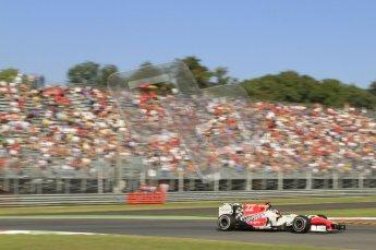 © Octane Photographic Ltd. 2011. Formula 1 World Championship – Italy – Monza – 9th September 2011 – Daniel Ricciardo, HRT F111 - Free practice 1 – Digital Ref :  0173CB7D5949