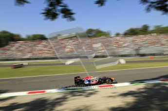 © Octane Photographic Ltd. 2011. Formula 1 World Championship – Italy – Monza – 9th September 2011 – Mark Webber, Red Bull Racing RB7 - Free practice 1 – Digital Ref : 0173CB7D6024