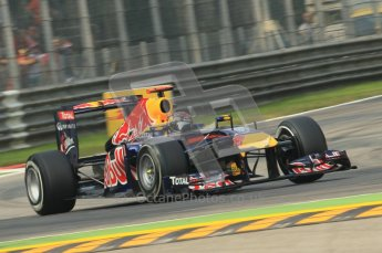© Octane Photographic Ltd. 2011. Formula 1 World Championship – Italy – Monza – 10th September 2011, Sebastian Vettel, Red Bull Racing RB7 – Free practice 3 – Digital Ref :  0175CB1D2502