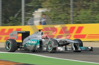 © Octane Photographic Ltd. 2011. Formula 1 World Championship – Italy – Monza – 10th September 2011, Michael Shumacher, Mercedes GP MGP W02 – Free practice 3 – Digital Ref :  0175CB1D2539