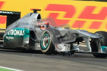 © Octane Photographic Ltd. 2011. Formula 1 World Championship – Italy – Monza – 10th September 2011, Michael Shumacher, Mercedes GP MGP W02 – Free practice 3 – Digital Ref : 0175CB1D2592