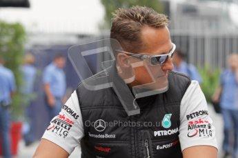 © Octane Photographic Ltd. 2011. Formula 1 World Championship – Italy – Monza – 10th September 2011 -  Michael Shumacher, Mercedes GP – Free practice 3 – Digital Ref :  0175LW7D5944