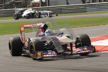 © Octane Photographic Ltd. 2011. Formula 1 World Championship – Italy – Monza – 11th September 2011 Sebastien Buemi, Torro Roso STR6 – Race outlap – Digital Ref :  0177CB7D7711