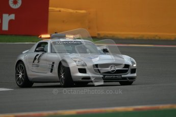 © Octane Photographic Ltd. 2011. Formula One Belgian GP – Spa – Friday 26th August 2011 – Free Practice 1, The Mercedes-Benz SLS taking La Source hairpin. Digital Reference : 0163CB1D6894