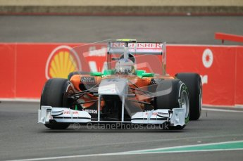 © Octane Photographic Ltd. 2011. Formula One Belgian GP – Spa – Friday 26th August 2011 – Free Practice 1, Paul di Resta - Force India VJM04. Digital Reference : 0163CB1D6913