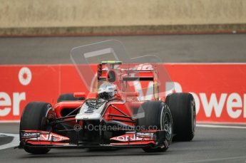 © Octane Photographic Ltd. 2011. Formula One Belgian GP – Spa – Friday 26th August 2011 – Free Practice 1, Jerome d'Ambrosio - Marussia Virgin Racing VMR02. Digital Reference : 0163CB1D6925