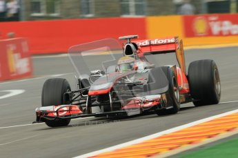 © Octane Photographic Ltd. 2011. Formula One Belgian GP – Spa – Friday 26th August 2011 – Free Practice 1, Lewis Hamilton - McLaren MP4/26. Digital Reference : 0163CB1D7266
