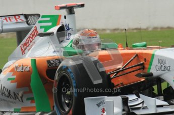 © Octane Photographic Ltd. 2011. Formula One Belgian GP – Spa – Friday 26th August 2011 – Free Practice 1, Adrian Sutil - Force India VJM04. Digital Reference : 0163LW7D1050