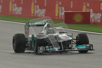 © Octane Photographic Ltd. 2011. Formula One Belgian GP – Spa – Friday 26th August 2011 – Free Practice 1, Nico Rosberg - Mercedes MGP W02. Digital Reference : 0163LW7D1624
