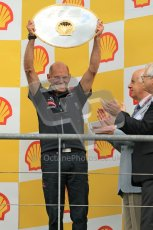 © Octane Photographic Ltd. 2011. Formula One Belgian GP – Spa – Sunday 28th August 2011 – Adrian Newey, technical director of Red Bull on the podium. Digital Reference : 0169cb1d1053