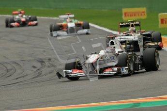 © Octane Photographic Ltd. 2011. Formula One Belgian GP – Spa – Sunday 28th August 2011 – Race. Kamui Kobayashi, Sauber C30. Digital Reference : 0168cb1d0437