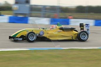 © Octane Photographic 2011 – British Formula 3 - Donington Park. 24th September 2011, Felipe Nasr - Carlin - Dallara F308 Volkswagen. Digital Ref : 0182lw1d5540