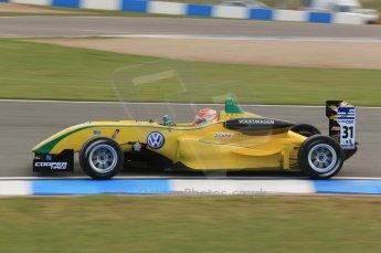 © Octane Photographic 2011 – British Formula 3 - Donington Park. 24th September 2011, Felipe Nasr - Carlin - Dallara F308 Volkswagen. Digital Ref : 0182lw1d5545