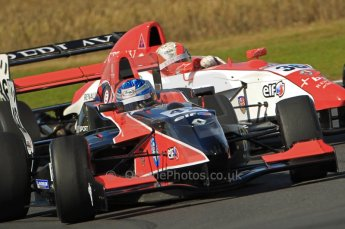 © Octane Photographic Ltd. 2011. Formula Renault 2.0 UK – Snetterton 300, formation driving from Jordan King - Manor Competition, and Alex Lynn - Fortec Motorsports. Sunday 7th August 2011. Digital Ref : 0123CB1D3667