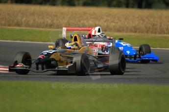 © Octane Photographic Ltd. 2011. Formula Renault 2.0 UK – Snetterton 300, Tio Ellinas - Atech Reid GP leads Alex Lynn and Oliver Rowland - Fortec Motorsports. Sunday 7th August 2011. Digital Ref : CB1D3820