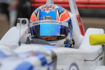 © Octane Photographic Ltd. The British F3 International & British GT Championship at Rockingham. Jack Harvey pepares to head out to the track. Digital Ref: 0188LW7D2448
