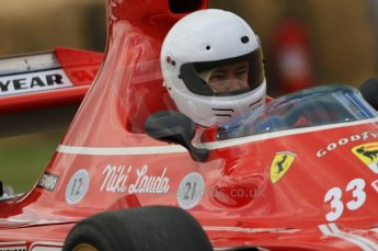 © Octane Photographic 2011. Goodwood Festival of Speed, Friday 1st July 2011. Ex-Lauda Ferrari 312B3. Digital Ref : 0097CB7D6798
