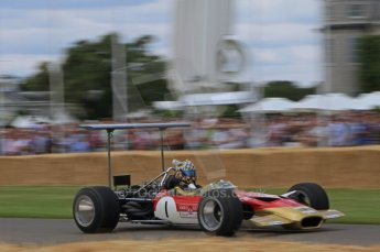 © Octane Photographic 2011. Goodwood Festival of Speed, Friday 1st July 2011. Lotus 49B driven by Dan Collins. Digital Ref : 0097LW7D8566
