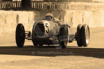 © Octane Photographic 2011. Goodwood Festival of Speed, Historic F1 Auto Union, Friday 1st July 2011. Digital Ref : 0101CB15498-sepia