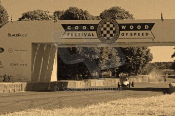 © Octane Photographic 2011. Goodwood Festival of Speed, Friday 1st July 2011, Historic F1. Digital Ref : 0101CB17395-sepia