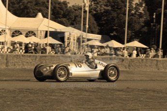© Octane Photographic 2011. Goodwood Festival of Speed, Historic F1 Mercedes, Friday 1st July 2011. Digital Ref : 0101CB1D7407-sepia