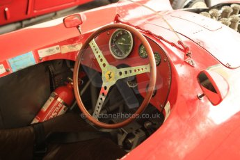 © Octane Photographic 2011 – Goodwood Revival 17th September 2011. Ferrari D50 cockpit, Historic F1. Digital Ref : 0179cb1d4270
