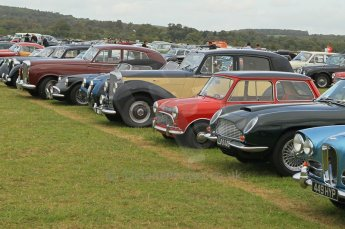 © Octane Photographic 2011 – Goodwood Revival 17th September 2011. Part of the public car park for historic vehicles. Digital Ref : 0179CB1D46242