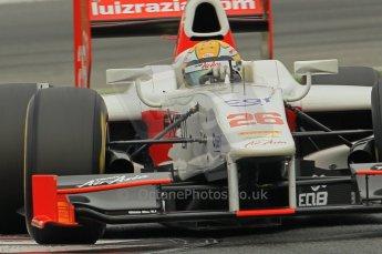 © Octane Photographic 2011. GP2 Official pre-season testing, Barcelona, Tuesday 19th April 2011. Team Air Asia - Luiz Razia. Digital Ref : 0052CB1D0087