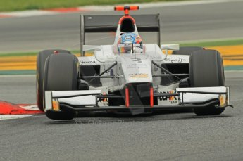 © Octane Photographic 2011. GP2 Official pre-season testing, Barcelona, Tuesday 19th April 2011. Barwa Addax Team - Charles Pic. Digital Ref : 0052CB1D0181