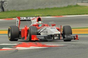 © Octane Photographic 2011. GP2 Official pre-season testing, Barcelona, Tuesday 19th April 2011. Scuderia Coloni - Davide Rigon. Digital Ref : 0052CB1D0780