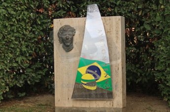 © Octane Photographic 2011. GP2 Official pre-season testing, Barcelona, Tuesday 19th April 2011. Ayrton Senna memorial at paddock entrance. Digital Ref : 0052CB7D0002