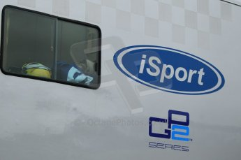 © Octane Photographic 2011. GP2 Official pre-season testing, Silverstone, Tuesday 5th April 2011. iSport logo on transporter. Digital Ref : 0039CB1D6123