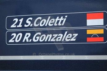 © Octane Photographic 2011. GP2 Official pre-season testing, Silverstone, Tuesday 5th April 2011. Trident - Rodolfo Gonzales, Stefano Coletti. Digital Ref : 0039CB1D6131