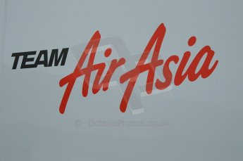 © Octane Photographic 2011. GP2 Official pre-season testing, Silverstone, Tuesday 5th April 2011. Team Air Asia logo on transporter. Digital Ref : 0039CB1D6140