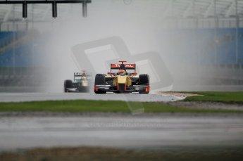 © Octane Photographic 2011. GP2 Official pre-season testing, Silverstone, Tuesday 5th April 2011. DAMS - Romain Grosjean, Lotus Art - Jules Bainchi. Digital Ref : 0039CB7D0139