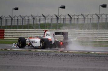 © Octane Photographic 2011. GP2 Official pre-season testing, Silverstone, Tuesday 5th April 2011. Rapax - Fabia Leimer. Digital Ref : 0039CB7D0244