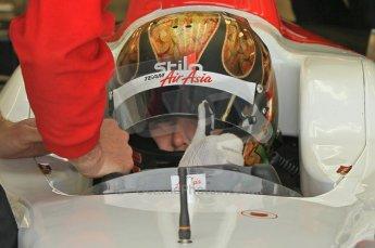 © Octane Photographic 2011. GP2 Official pre-season testing, Silverstone, Wednesday 6th April 2011. Team Air Asia - Davide Valsecchi. Digital Ref : 0040CB1D7677