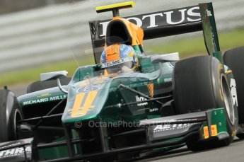 © Octane Photographic 2011. GP2 Official pre-season testing, Silverstone, Wednesday 6th April 2011. Lotus Art - Esteban Gutierez. Digital Ref : 0040CB7D1522