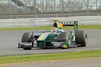 © Octane Photographic 2011. GP2 Official pre-season testing, Silverstone, Wednesday 6th April 2011. Lotus Art - Esteban Gutierez. Digital Ref : 0040CB7D1546