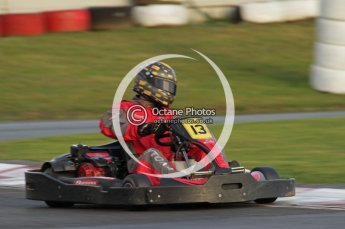 © Octane Photographic Ltd. 2011. Milton Keynes Daytona Karting, Forget-Me-Not Hospice charity racing. Sunday October 30th 2011. Digital Ref : 0194lw7d0095
