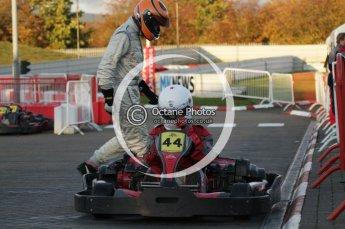 © Octane Photographic Ltd. 2011. Milton Keynes Daytona Karting, Forget-Me-Not Hospice charity racing. Sunday October 30th 2011. Digital Ref : 0194lw7d0336
