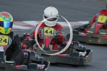 © Octane Photographic Ltd. 2011. Milton Keynes Daytona Karting, Forget-Me-Not Hospice charity racing. Sunday October 30th 2011. Digital Ref : 0194lw7d0632